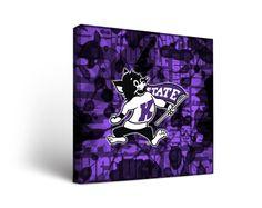 Kansas State Wildcats Canvas Wall Art Fight Song Design (12x12)
