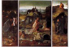 Schilderij Jeroen Bosch: Het Heremieten drieluik