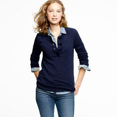 Cashmere on-the-button henley