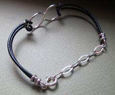 Men's Jewelry Mens Infinity Bracelet. by NadinGlassico on Etsy
