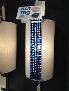 The Rachel sconce from Ro Sham Beaux combines linen with navy agate beads. #HATtag #atlmkt