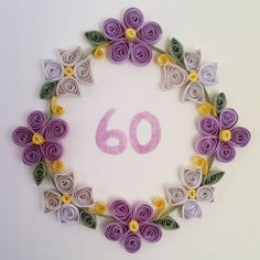 60th birthday quilling card
