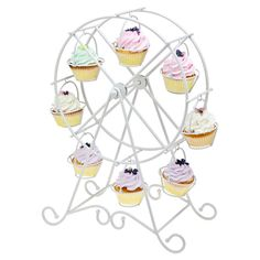 Ferris Wheel Cupcake Holder - love this for a wedding or baby shower, so cute :) $39.95 https://www.jossandmain.com/Sweet-Treats-Ferris-Wheel-Cupcake-Holder-in-White~RXK1324~E4954.html?refid=HSOJM1.type359=664253=HardPin=Pinterest=type359