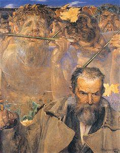The story of a song (Portrait of Adam Asnyk) - Jacek Malczewski   1899
