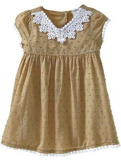 Old Navy swiss dot dress love the pom pom trim