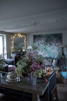 Behind the scenes at Artist Laurence Amelie's home and studio. My Floral Affair book now available to preorder on shabbychic.com