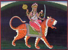 How much do we love Durga?   Sinha-vahini Durga from Exotic India Arts