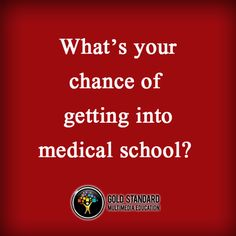 Serious chances of getting in to medical school?