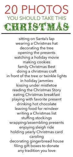 Free printable holiday photo list