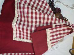 Copri tavolo in cotone quadrettato rosso/bianco con di JujuFantasy