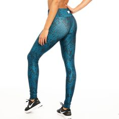 124ea2bc41dde Snake prints are always in fashion. Rock the trend in these Green Snake  leggings by. simplyWORKOUT