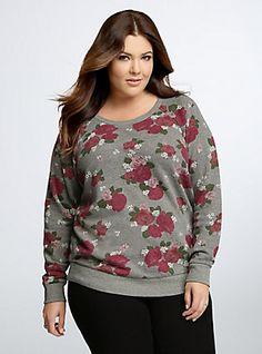 Floral Sweatshirt, MADMAN ROSES