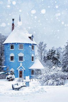 Moomin house in winter. The Moomin World in Naantali, Finland Beautiful World, Beautiful Homes, Beautiful Places, Beautiful Beautiful, Amazing Places, The Places Youll Go, Places To Go, Moomin House, Winter Scenes