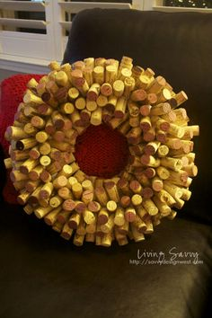 My Holiday Cork Wreath, Some Others, And Tips   from Living Savvy