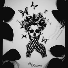 Tattoo design by Paty Oliveira Stencils, Tattoo Designs, Skull, Templates, Photo And Video, Tattoos, Drawings, Instagram, Tatuajes