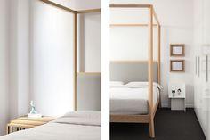 MADE   Breda bed for Punt · Industrial Design + Architecture - Borja Garcia       #design #bed #wood #punt #home