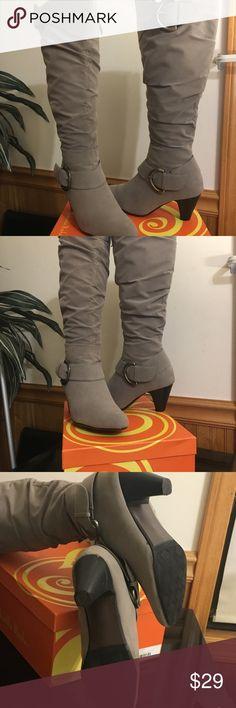 I just added this listing on Poshmark: Women's grey boots. #shopmycloset #poshmark #fashion #shopping #style #forsale #Gabriella Rocha #Shoes