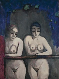 """dappledwithshadow: """"Two Nude Women at the Window Kees van Dongen - circa 1922 Private collection Painting - oil on canvas Height: cm in. Maurice De Vlaminck, Figurative Kunst, Great Works Of Art, Raoul Dufy, Ouvrages D'art, Dutch Painters, Art Moderne, Modern Artists, Henri Matisse"""