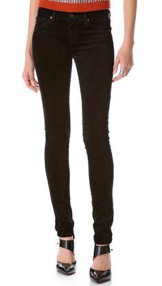 AG Adriano Goldschmied Super Skinny Velvet Pants
