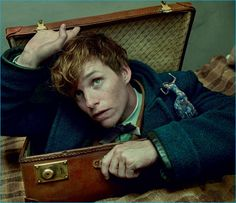 Actor Eddie Redmayne graces the pages of Vogue with a miniature Edie Campbell.