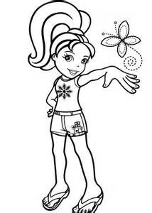 Polly Pocket Coloring Pages Kids