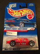 Hot Wheels 1998 First Editions Lakester Blue Card Malaysia base #647 12 of 40 1