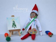 Elf Artist Elf Artist Elf Painting Props Elf by WhimsyByHeather Elf Christmas Decorations, Christmas Elf, Christmas Ideas, Xmas, Christmas Jewelry, Elf Products, Makeup Products, Beauty Products, Cowboy Invitations