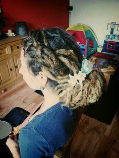 Dreadlocks hairstyle.