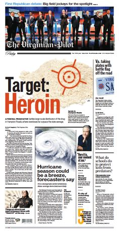 The Virginian-Pilot's front page for Friday, Aug. 7, 2015.