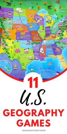 Us Geography, Geography Games, Learning Games For Kids, Learning Through Play, Writing Activities, Writing Ideas, Writing Lesson Plans, National Geographic Kids, Children's Picture Books
