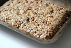 Coconut Almond Energy Bar Recipe - I've been making a batch of these every 2 weeks since I got the Runner's World Cookbook. Amazing taste & great energy source!