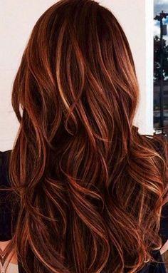 Auburn Balayage Hair #WomenHairColorBurgundy