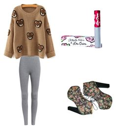 """Cuddly Bear"" by thottiemichael on Polyvore featuring Jeffrey Campbell and Lime Crime"