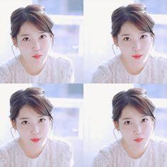 IU Kdpharma CF Kpop, Feel Tired, Little Sisters, Korean Singer, Cute Hairstyles, It Cast, Angel, Actresses, Queen