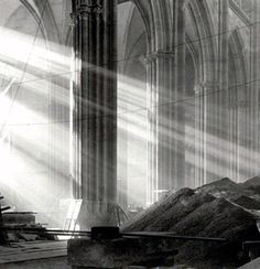 Amazing picture by the Czech photographer Sudek of the St. Vitus Cathedral in Prague, 1928.
