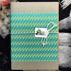 Notebook *plumage* fatto a mano
