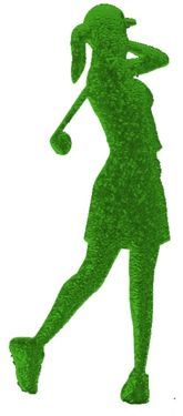 Female Golfer Cut Out for centerpieces. Great for Bat Mitzvah, themed birthday party, Fund Raisers and school sports banquet centerpieces. Choose from 18 cracked ice colors for the durable foam board. http://www.awesomeevent.com/12-Female-Golfer-ci-P5141.aspx