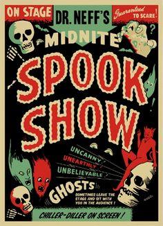 Spook Show Poster - Spookshows.com