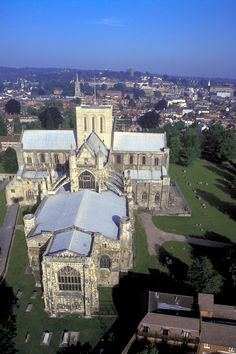 An aerial view of the World famous #Winchester #Cathedral