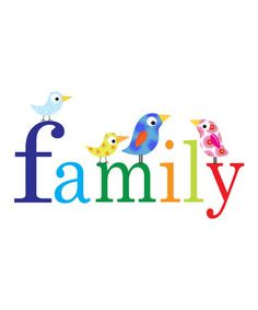 Take a look at this 'Family' Print by Ellen Crimi-Trent on #zulily today! Love personalization of the birds.