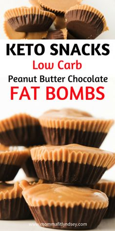 Keto Fat Bomb recipes are the perfect low carb dessert! These eaay peanut butter chocolate fat bombs are the best tasting keto fat bombs I have tried! Keto Foods, Keto Food List, Ketogenic Recipes, Keto Snacks, Ketogenic Diet, Leptin Diet, Ketogenic Supplements, Ketosis Diet, Easy Snacks