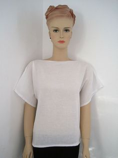 Kimono top tutorial. Make this easy T Shaped top in a morning. The sewing tutorial is on Greenie Dresses for Less.