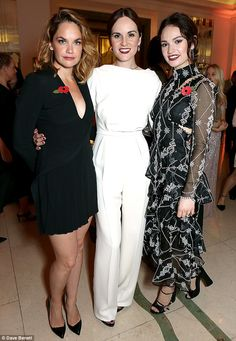 On Tuesday Michelle Dockery + Lily James + Ruth Wilson attended the 2015 Harper's Bazaar Women of the Year Awards at Claridges Hotel in London. Best Celebrity Dresses, Celebrity Style, Ruth Wilson, Michelle Dockery, Lady Mary, Lily James, Kate Winslet, Nicole Kidman, Celebs