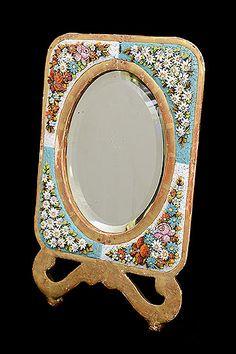 Italian Vintage Micro Mosaic Vanity Mirror