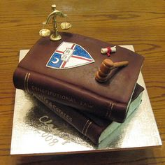 Law School Graduation Cake.... I see this in my near future!