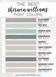 Grey Paint Colors, Bedroom Paint Colors, Paint Colors For Home, Wall Painting Colors, Color Schemes With Gray, Color Palette Gray, Dinning Room Paint Colors, Best Bathroom Paint Colors, Coastal Paint Colors