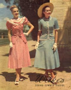 Utterly love both outfits! (1948) #vintage