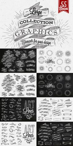 Vintage graphics by Anna on @creativemarket