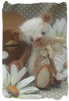 Dusty little vintage style panda art bear. by forrestfairy on Etsy Another creation by Anna! So sweet!!!