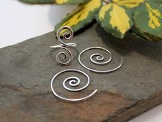 Open Spiral ring and Tribal earrings - reserved for Maz - Sterling silver